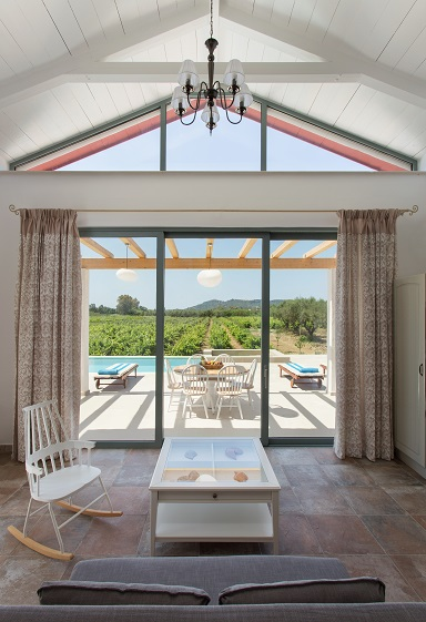Aneli-Villa-Elissavet-Living-room-with-a-pool-view